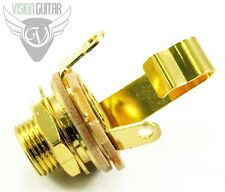 "NEW! Switchcraft #11 Mono 1/4"" INPUT JACK - Entirely GOLD PLATED"