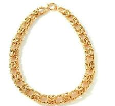 "18"" Bold Technibond Byzantine Chain Necklace 14K Yellow Gold Clad 925 Silver 50g"