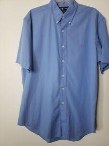 Ralph Lauren Dress Shirt Blue Button Down Size Large Classic Fit Business Office