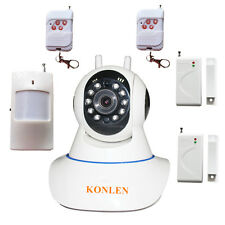 Wifi Alarm System Video IP Camera Home Security with Burglar Wireless Sensors