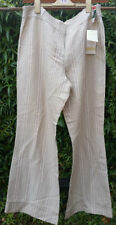 Linen Blend Other Casual Mid Rise Trousers for Women