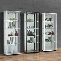 XMAS RETAIL SHOP DISPLAY LED SHELF LIT DOUBLE LOCKABLE GLASS DISPLAY CABINETS