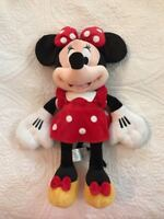 """Disney Store Authentic Minnie Mouse BIG Red Polka Dot Plush Toy 19"""" Doll Mickey"""