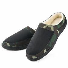 Men's Memory Foam Slippers Fleece Slip-on Camouflage Indoor Outdoor House Shoes