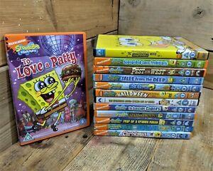 Large SpongeBob SquarePants DVD Bundle x13 ~ Official Branded Joblot/Collection