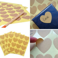 Self Adhesive Blank Heart Labels Stickers Paper Sticky Packaging Seals
