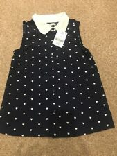 Girls Heart Blouse Top With Collar BNWT 7 Years