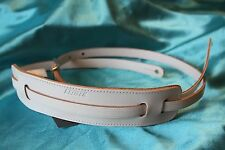 Gretsch Deluxe Vintage White Leather Strap with Shoulder Pad, MPN 9220664005