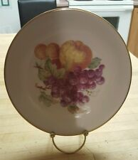 """7.5"""" Decorative Plate with Fruit & Gold Trim Zeh Scherzer, Bavaria Germany w/ st"""