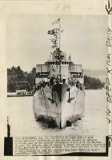 1943 Newsphoto - Destroyer USS De Haven Sunk by Japanese Dive Bombers