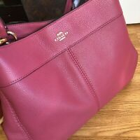 *** $395 NWT COACH SOFT PEBBLED LEATHER BEAUTIFUL LEXY SHOULDER BAG ROUGE F27593