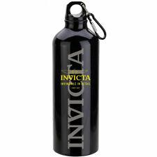 Botella de aluminio Invicta Con Clip Y Split Llavero, Negro, 500ml IPM921