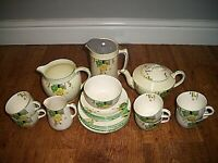 Antique 1920-1939 Art Deco Morley Ware Mayfair Pattern Tea and Coffee Service
