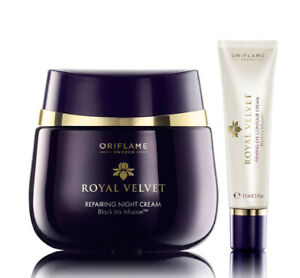 ROYAL Velvet Repairing NIGHT Cream + EYE Contour Cream Oriflame Swedish 22814