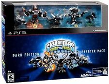 PS3 Starter Pack edizione NERA Skylanders SWAP FORCE 5 personaggi LEGGENDARI new