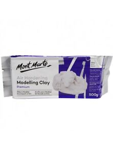 Air Hardening Modelling Clay White 500G Mont Marte Wholesale Craft Arts Supply