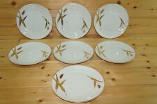 "Meito Midas White (7) Bread & Butter Plates, 6 3/8"""