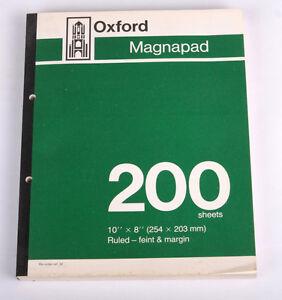 "Vintage Oxford Magnapad 10"" x 8"" Feint & Margin 200 sheets x 1"