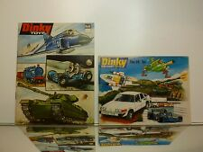 DINKY TOYS 2x CATALOGUE - No 8 (1971) and No 14 (1978) - GOOD CONDITION
