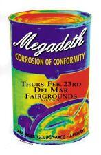 Megadeth POSTER Corrosion Of Conformity San Diego Art Getz Silkscreen Punk Rock