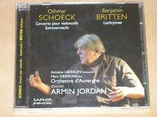 CD / OTHMAR SCHOECK / BRITTEN / ORCHESTRE D'AUVERGNE / ARMIN JORDAN / NEUF