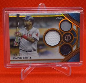 2021 Topps Tribute DAVID ORTIZ Game Used Certified Triple Relic /25 Red Sox Papi