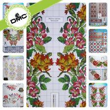SD-43 Cross stitch patterns Flower Borders Ukrainian Vyshyvanka in Mexican Boho