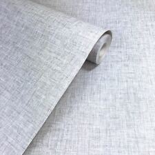 Arthouse Linen Texture Light Grey Plain Wallpaper - 676006