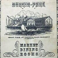 Vintage Durgin Park Dining Room Menu Faneuil Hall Markets Boston Massachusetts