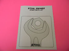 STIHL CHAINSAW MS460 SPARE PARTS LIST  MANUAL -------------- MANUAL 47 / 48