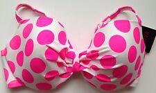 BIKINI TOP La Senza 40F Pink & White Dot Print Full Support BNWT