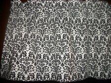 Mini Black White Damask paisley fabric window curtain topper Valance