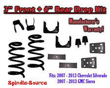 "2007 - 2013 Chevrolet Silverado GMC Sierra 1500 V6 3"" 6"" Lowering Drop kit Coils"