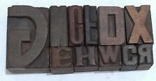 Letterpress Letter Wood Type Printers Block Lots Of 11 Typography Eb 11