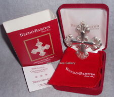 2008 Reed Barton 38th Annual Sterling Silver Christmas Cross Ornament Pendant