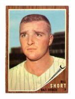 1962 Topps Baseball Card # 221 Bill Short  --  Orioles  (EX-MT)