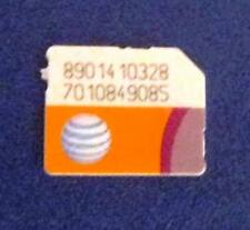 Lot of 5 AT&T Micro size SIM Cards No Service for Test/Bypass only