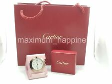 CARTIER PASHA TRAVEL CLOCK W/ ALARM WITH LEATHER CASE - VERY RARE - AUTHENTIC