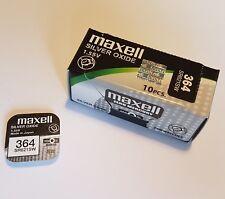 2x Pila Boton Maxell 364 - R621SW - AG1 - 1,55V