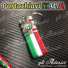 Portachiavi Tricolore Italia Auto ALFA ROMEO 147 159 156 BRERA Giulietta Mito