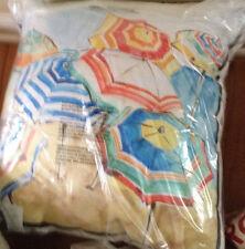 "Pottery Barn Umbrella Print Complete Pillow Indoor Outdoor 24"" Patio Pastel New"