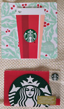 Starbucks 2018 Red Cup Keychain and Red Siren Green Glitter Gift Card