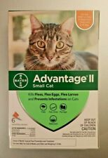 GENUINE BAYER ADVANTAGE II FLEA CONTROL FOR CATS 5 TO 9 LBS - NEW 6 PACK