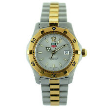 TAG HEUER WK1320-0 PROF 200M SILVER DIAL 2-TONE G.P. + S.S. LADIES WATCH - MINT