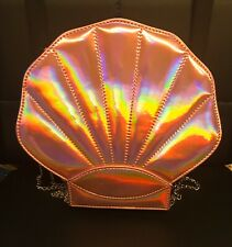 Mermaids Shell Bag Holographic Pink Shiny With Chain Strap NWT