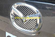 For 2013+ Mazda CX-5 Rear Trunk Emblem Logo Black Carbon Fiber Filler Decal CX5