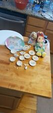 Precious Moments Lot Friendship Dolls one with red hair. Applause & Tea Set
