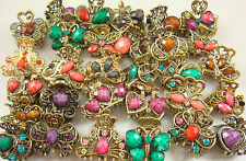 5pcs Crystal Bronze Metal Alloy Hair Clamp Claw Clips Hairpins wholesale d1mi