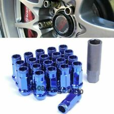 For Toyota Honda Mazda 48MM JDM Tuner Steel Blue 12X1.5MM Wheel Lug Nuts Qty x20
