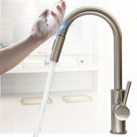 Kitchen Movable Sink Basin Faucet Single Hole Touch-sensitive Water Mixer Tap